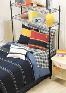 Take Advantage Of Vertical Space Above A Bed With The Dorm Space Saver Shelf Part 16